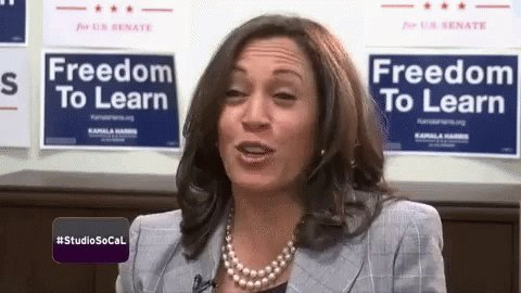 May your birthday be as happy as Kamala Harris.