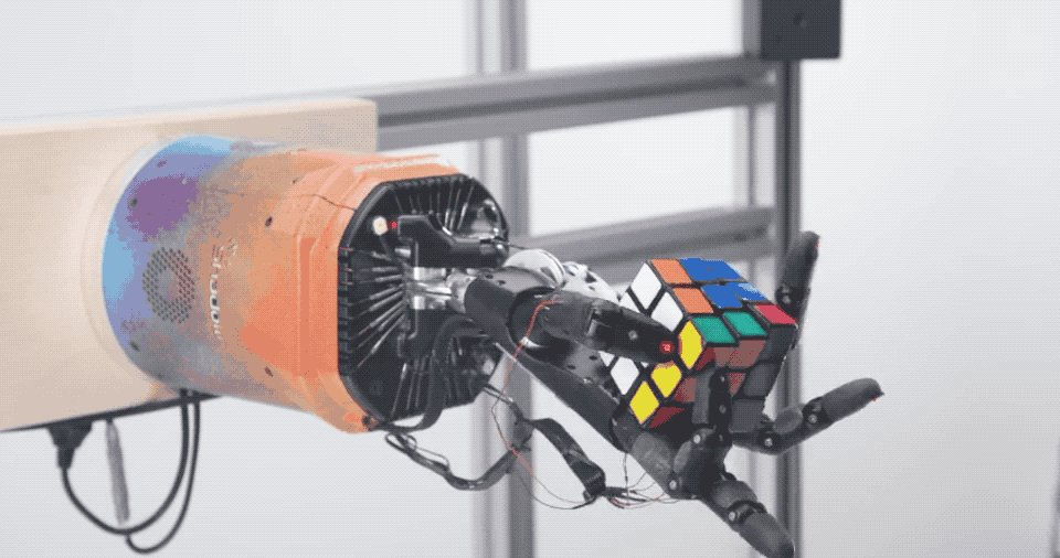 OpenAI's AI-powered robot learned how to solve a Rubik's cube one-handed