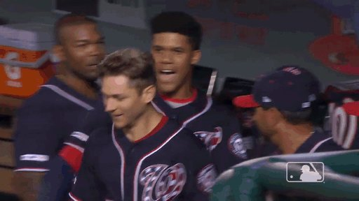 You guys...  YOU GUYS...  TREA TURNER 2-RUN SINGLE TO LEFT FIELD AND WE'VE SCORED A TOUCHDOWN ON OUR FIRST POSSESSION.  BOTTOM 1 // #Nats 7, Cardinals 0