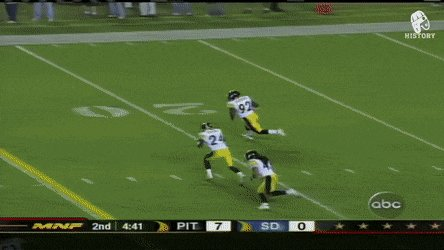 Troy Polamalu block on Antonio Gates #Steelers