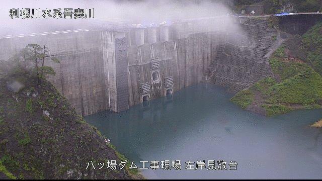 八ッ場ダムは試験湛水中ですが、洪水も(維持流量以外)全部貯めます!!台風19号の豪雨をどんどん貯め込む本日の八ッ場ダム。竣工前から効果を発揮しちゃう八ッ場ダム△