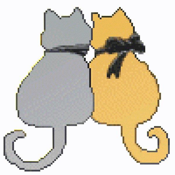 анимационная картинка кошка с расческой поможет другим клиентам