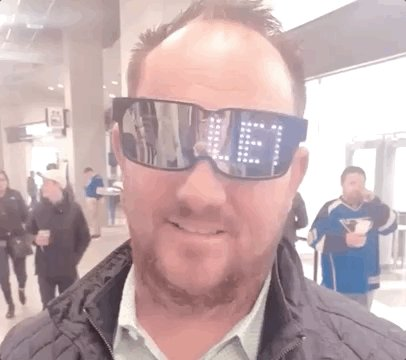 What this guy's glasses say. #stlblues