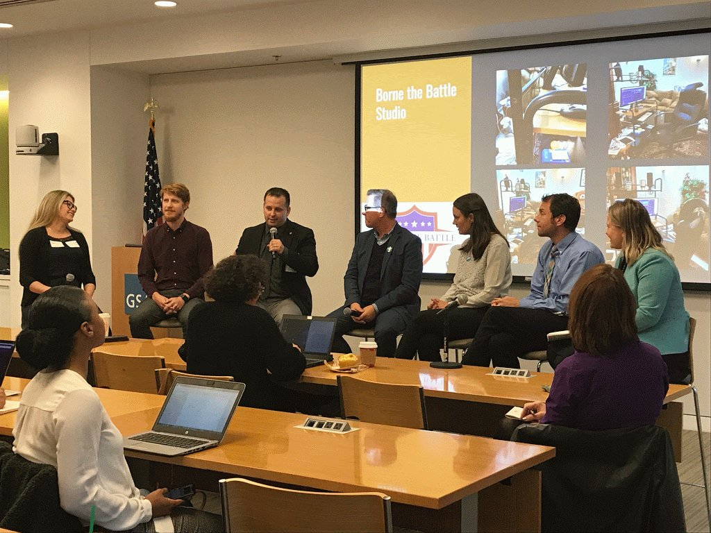 This morning GSA brought together the podcast experts behind @ENERGY's Direct Current, @DeptVetAffairs' Borne the Battle, @StateDept's 22.33, and @NIH's All About Grants to talk 150+ fed employees across the govt on what it takes to produce professional & engaging podcasts.