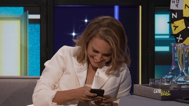 Me laughing on Twitter at 3am when I should be asleep 😂
