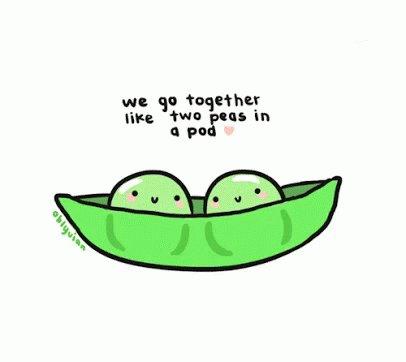 #WeFitTogetherLike peas and carrots