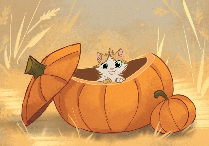 Image for the Tweet beginning: 🎃🐈🐱😻  (art by willow-s-linda)