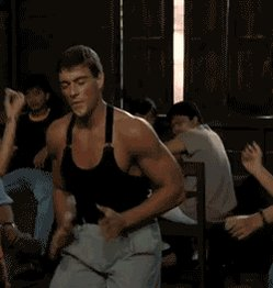 Thank you. We also need to say happy birthday to Jean Claude Van Damme