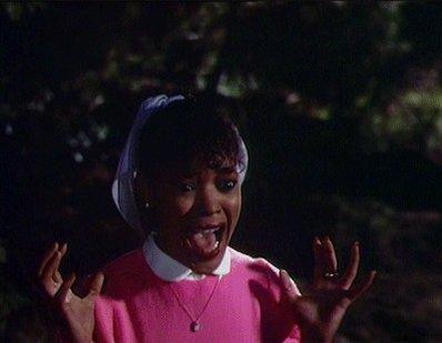 MARGARET IS CRAZY AF😖😞😫😫 RUN BITCHES, RUN!!!!!! #AHS1984
