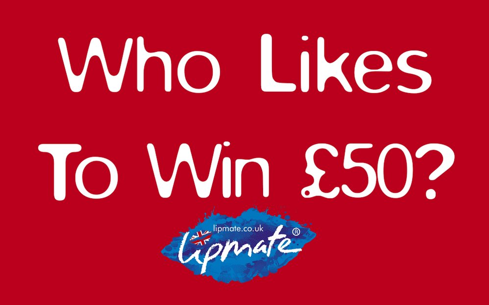 Last chance to enter! Win £50 + 5 Flavour #lipbalms  with Lipmate #WinItWednesday  🇬🇧