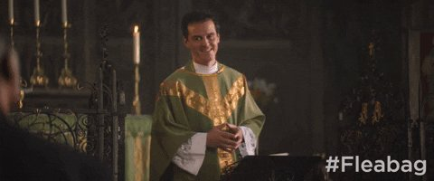 Were cracking open a can of G&T to wish a very happy birthday to Andrew Scott! Help us celebrate him by sharing your favorite hot priest gif below. #Fleabag
