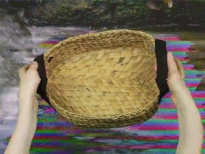 #foundonthehighwaytohell A handbasket