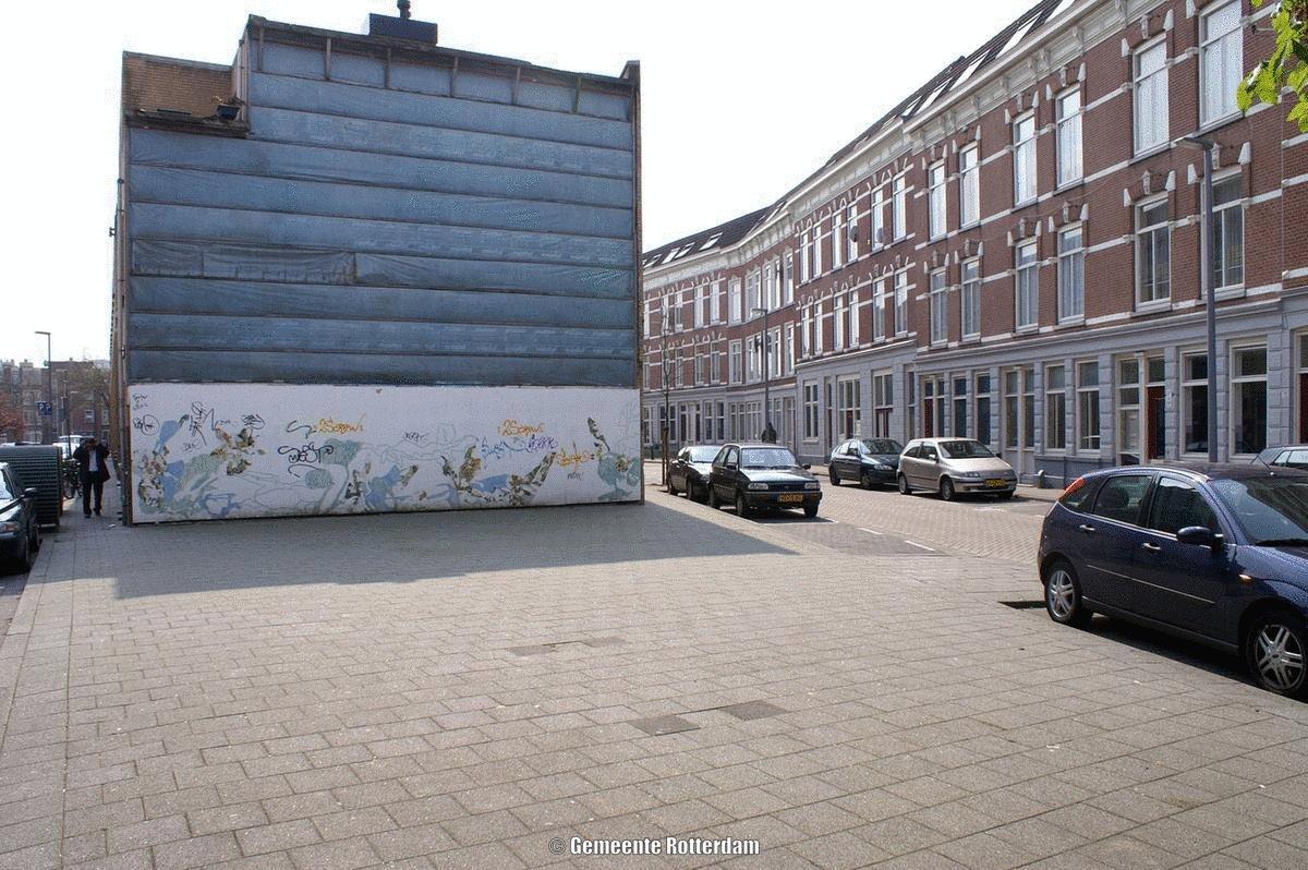 Transformando una esquina en Rotterdam.  'Parques de bolsillo' filtran Co2, producen oxigeno y evitan inundaciones.  ¡Y son bonitos!