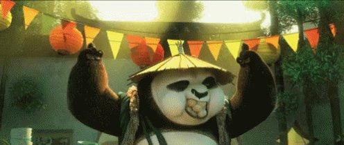 2 points. panda was feeling it.