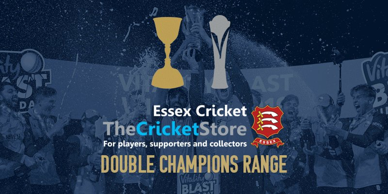 🏆🏆 The Double Champions range is now available at the @EssexStore, including two new commemorative books which can be pre-ordered in time for Christmas! 🛒 bit.ly/DblChmpStore19