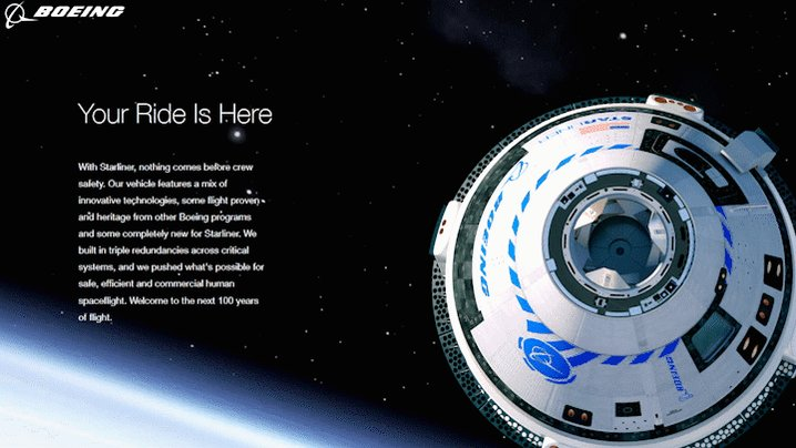 The spacecraft isn't the only thing we're rolling out today! Check out #Starliner's new mission website, meet our astronaut team and join the Starliner crew!See it here: http://www.boeing.com/starliner