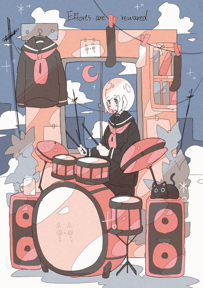 「コツコツドラムを練習する女の子🥁」