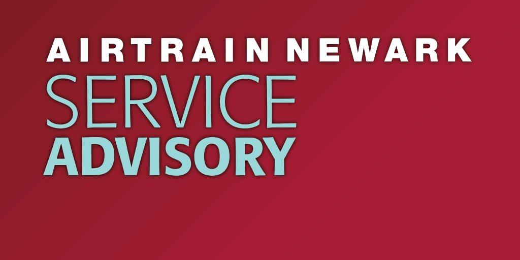 Image for the Tweet beginning: ⚠️ AirTrain Newark Advisory ⚠️ Due