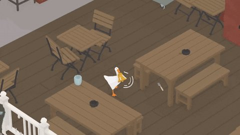 Advice for writers in Untitled Goose Game .GIFs, a thread: