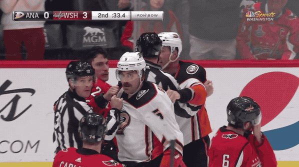 Capitals show some fight as brawl interrupts a win over the Ducks