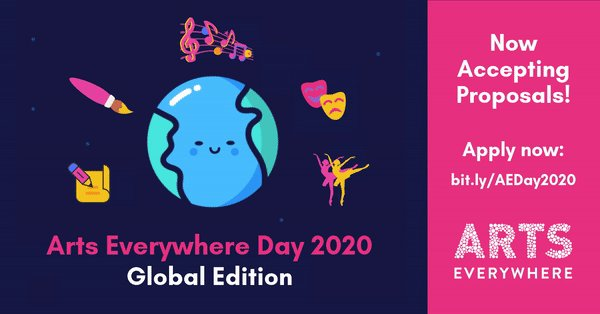 This year, @ArtsEverywhere Day is going global. Have an idea to participate in the festivities? Submit your proposals: https://t.co/ogRZHO2d0X https://t.co/LG1MSsAoZw