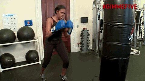 Replying to @JustMyTweet: #IPrepareForBlackFridayBy doing kickboxing warm-ups. 🥊