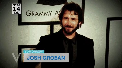 TOMORROW: The incredible @joshgroban joins us LIVE at the table!