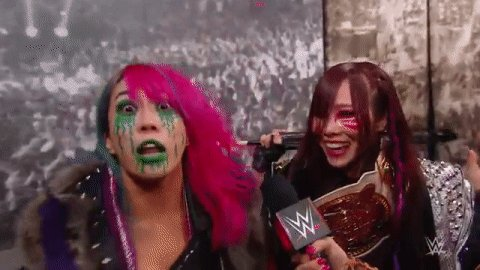 #RAW The #KabukiWarriors have never seemed more ready for battle.#@WWEAsuka @KairiSaneWWE