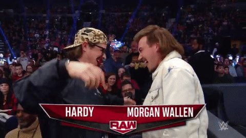 It wouldn't be #RAW in Nashville without @MorganWallen and @HardyMusic!