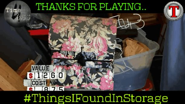 Thanks to everyone for playing #ThingsIFoundInStorage with us!  @AngelaMiroddi @SheilaBx2 & @KyraSpears will be back next week but check out @TagVengers Thursday 8am Est for a @Tagtoos_ production on @HashtagRoundup