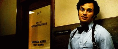 Happy birthday Mark Ruffalo. He s been great in some very good films, but my favorite remains Zodiac.
