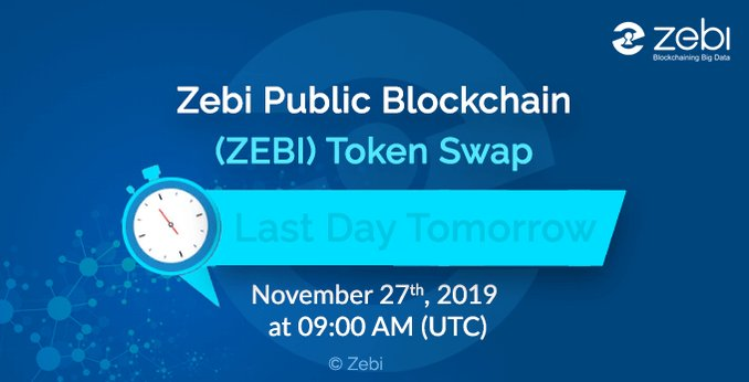 Image for the Tweet beginning: ERC20 ZCO to ZPB ZEBI