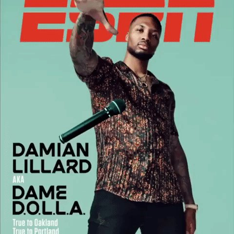"""Damian Lillard doesn't think of himself as an athlete who raps on the side.   He thinks of himself as an athlete, as @Dame_Lillard, and he also thinks of himself as a musician, as Dame D.O.L.L.A.   """"I'm literally able to do both. As a career.""""  📝 http://www.espn.com/espn/feature/story/_/id/28072772/as-real-gets…"""