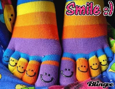 #MyFavoritePairOfSocks are rainbow toe socks. I've had them since like um, high school. I just can't part with them.