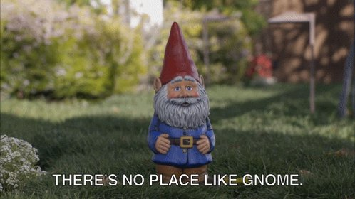 With the garden gnomes #UnlikelyElfOnTheShelfLocations