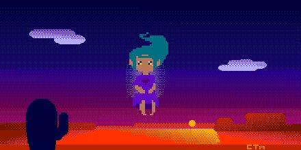 I put some music I made to this here:   #pixelart #animation #desert #mysitc #hallowedground #oc #art #digitalart #milkycrystal #sunset #magic #music #gif #wip