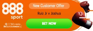 #TimeToBet 🚨🥊 It's #boxing time!💰 Enter the ring and claim our great new customer offer: 15/1 for Andy Ruiz JR to win, 6/1 for Anthony Joshua to win👉 Claim here: http://bit.ly/JoshuaRuizEO  18+, http://begambleaware.org , T&Cs apply#RuizJoshua2 #clashinthedunes