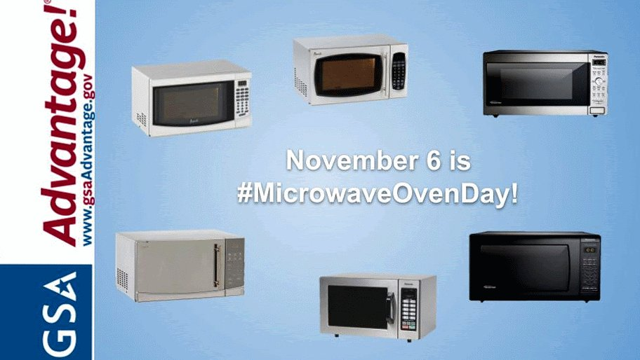 Today is #MicrowaveOvenDay! Check out the microwaves for purchase on https://t.co/mt6ffURApk -  GSA's online shopping and ordering system that provides federal, state, and local government agencies access to thousands of contractors and millions of products and services.