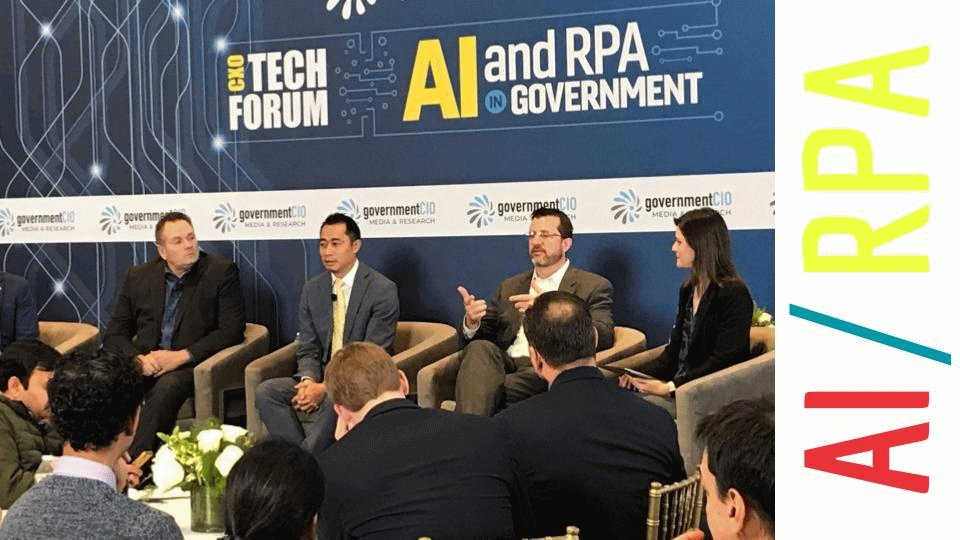 #ICYMI - GSA's Chief Financial Officer, Gerard Badorrek, and Chief Data Officer, Kris Rowley, spoke at the @GCIOMedia CXO Tech Forum yesterday about federal government #AI & #RPA.