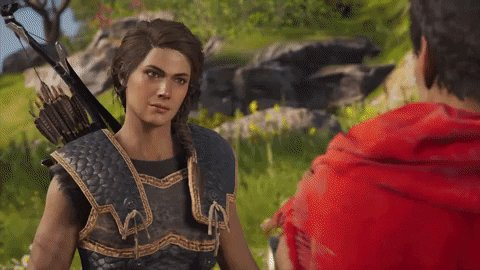 Live and kicking butt with Kassandra! twitch.tv/heroesoffitness yoga, hangouts, cats, and more AC Odyssey!