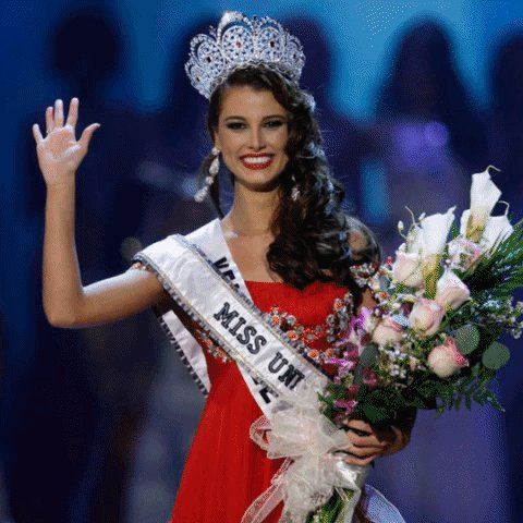 How I'll be waving from the #MissUniverse stage tonight.