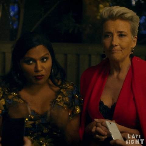 Basically how we feel that Emma Thompson earned a Best Actress in a Motion Picture, Comedy or Musical for @LateNightMovie.