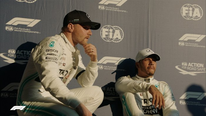 Sitting comfortably?   Time to fire up a thread of our favourite GIFs of 2019! 😆  #AusGP 🇦🇺 #F1 @LewisHamilton @ValtteriBottas