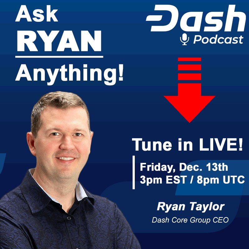 Image for the Tweet beginning: Submit your questions for Dash