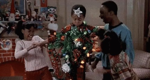 #BadChristmasTreeDecoratingVideos We don't need to buy something that will be turned into mulch within a month!