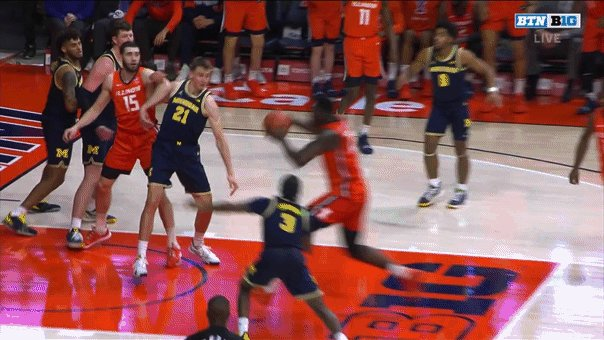 An Illinois basketball player's celebration sent a referee to the hospital