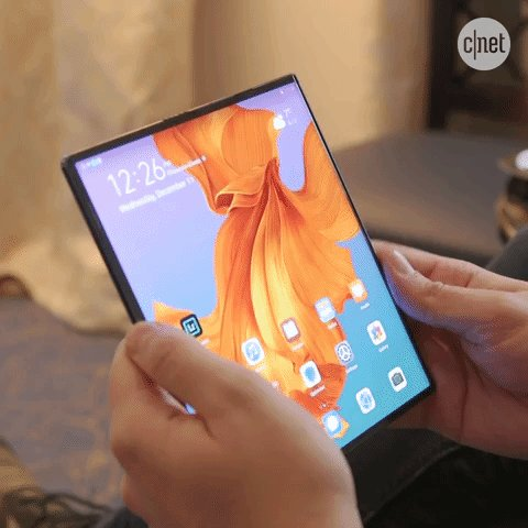 Unlike the Galaxy Fold and Motorola Razr, the Huawei Mate X folds outwards. We kinda like it. What do you think? cnet.co/38pK6HA