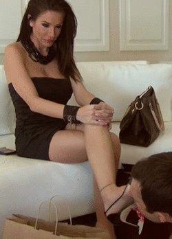 Femdom shoe licking porn pics