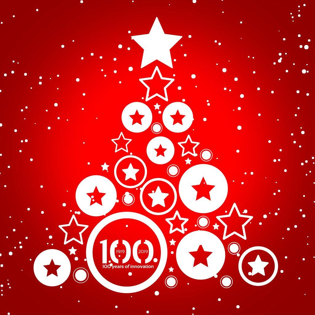 Image for the Tweet beginning: Happy Holidays!🎄💯 #nilpeter #yourprintingpartner #100yearsofinnovation