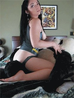 Hot girl humping gif